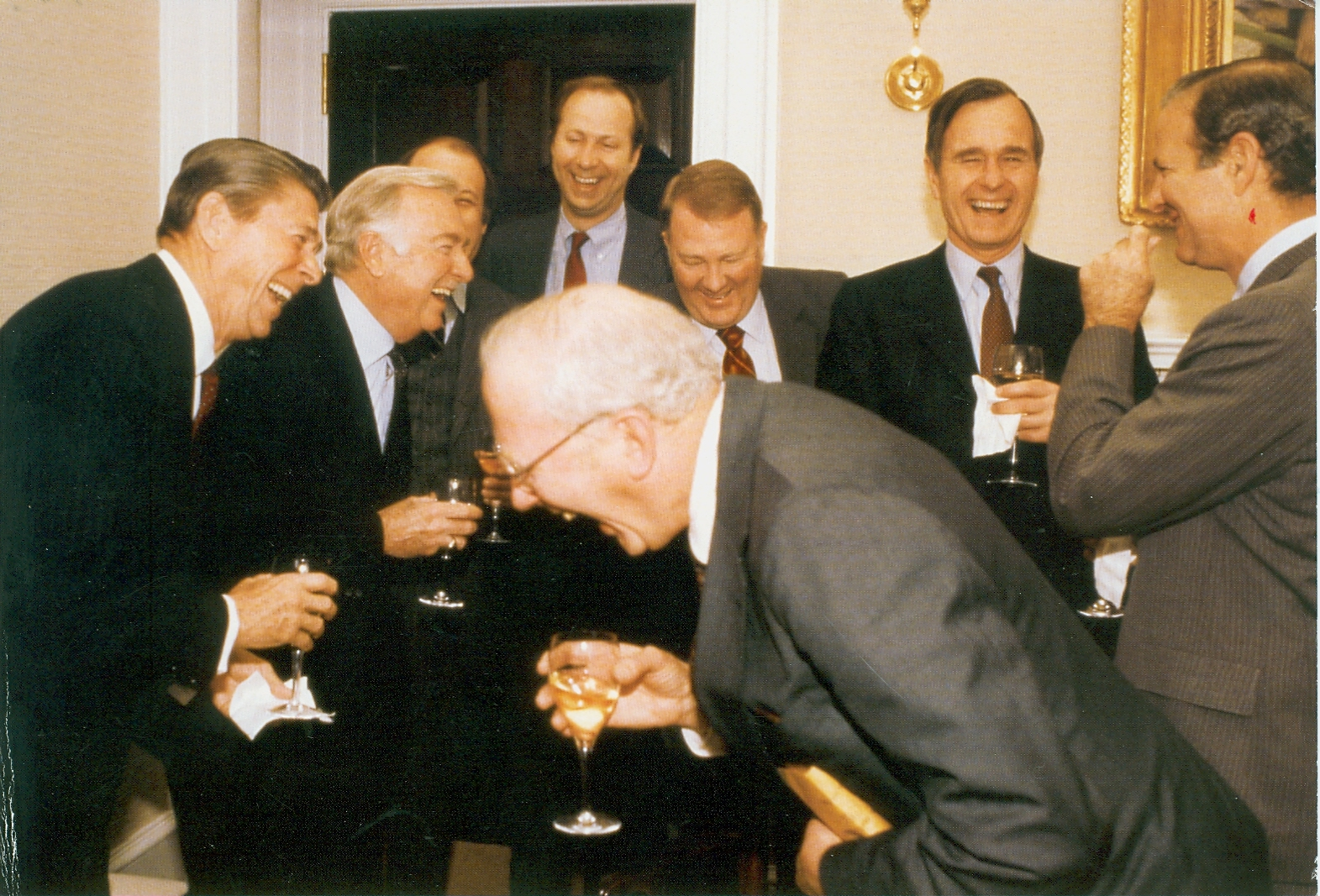 US Presidents laughing